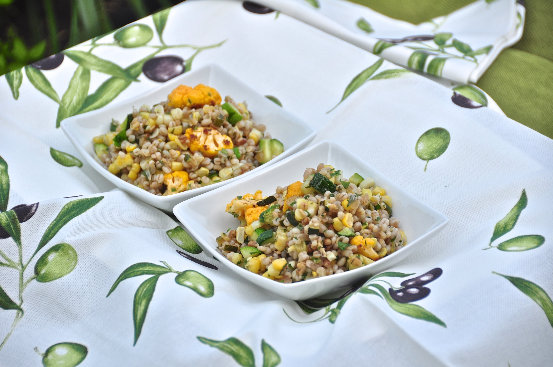 Barley with summer vegetables and walnuts olive oil and lemons - Pizzeria venecia marbella ...