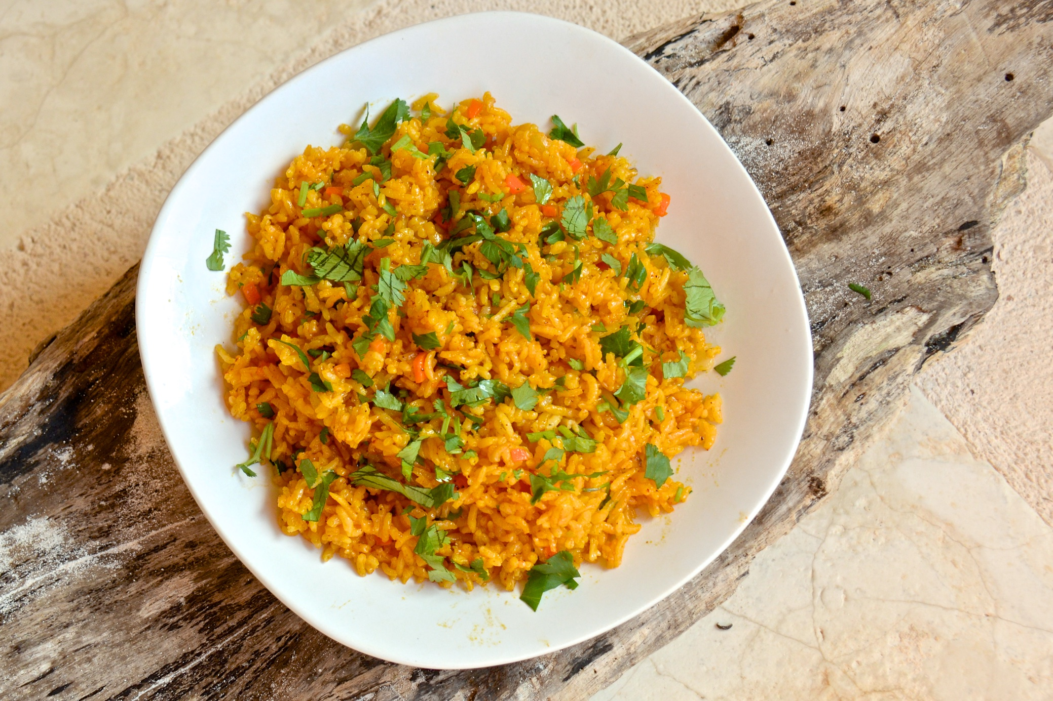 Mexican yellow rice with achiote olive oil and lemons - Pizzeria venecia marbella ...