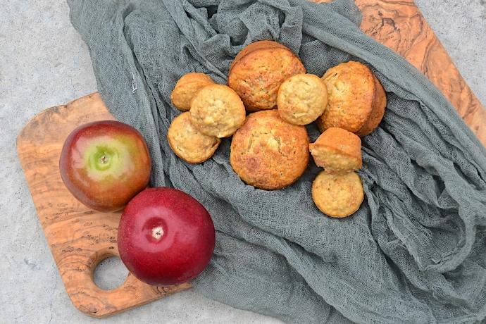Apple cinnamon mini muffins vegan with rice milk and olive oil olive oil and lemons - Pizzeria venecia marbella ...