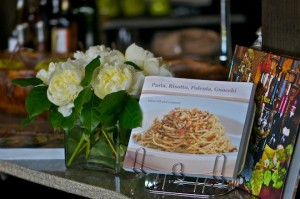 Peonies and my cookbook