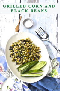 Roasted corn and black beans