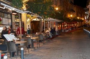 Restaurant row in Sevilla