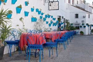 Sidewalk cafe in Mijas