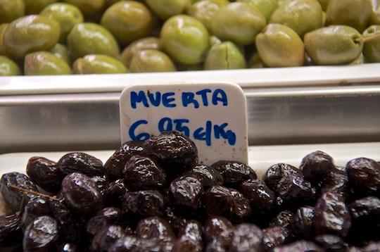 """Muerta"" (dead) olives"