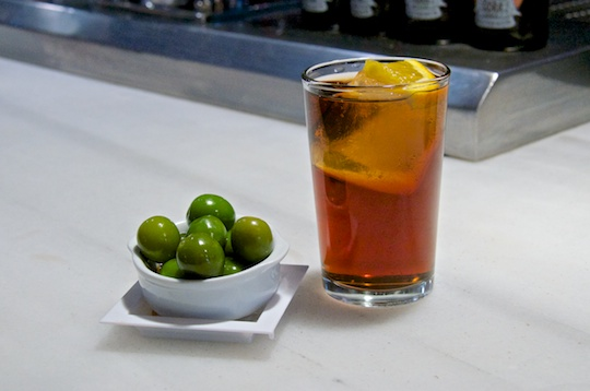Vermouth and olives, Madrid