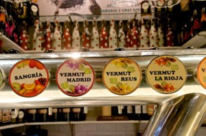 Vermouth bar at San Miguel market, Madrid