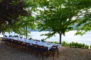 Joy Road Alfresco Vineyard dinner