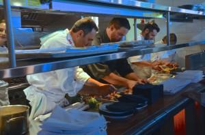 One dinner, three chefs