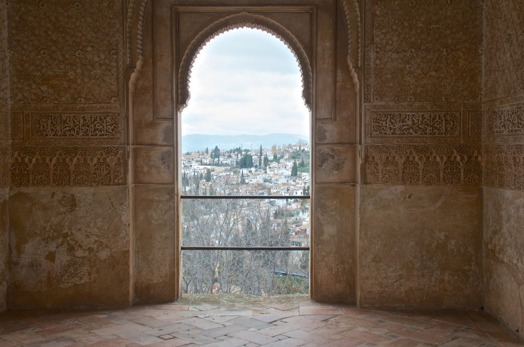 View from an alhambra window.