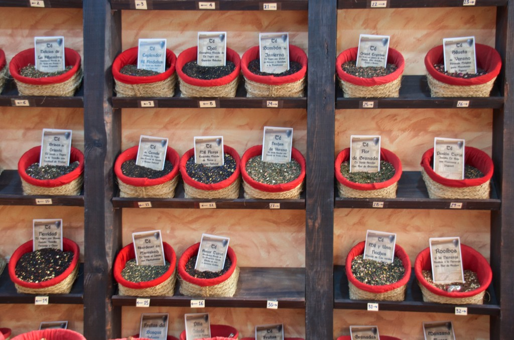 Herbs and teas merchant in Granada
