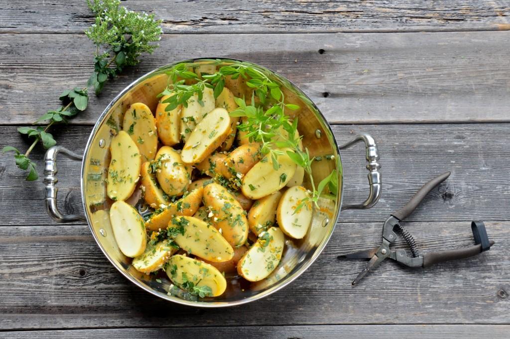 Lemon-oregano roasted potatoes