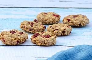 Banana- oatmeal cookies vegan, fat free