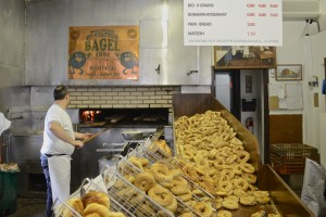 Baking bagels at Viateur Bagels
