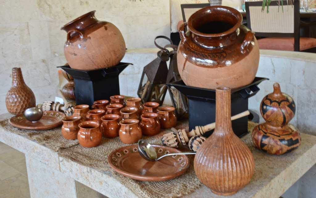 Hot chocolate and cafe de la ollla at the Rosewood, Mayakoba