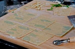 Making home made pasta