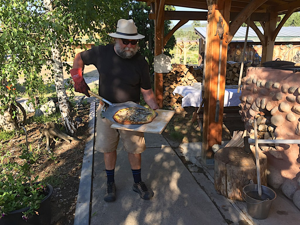 Jon Alcock and a wood fire oven pizza