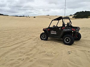Dune buggy on Oregon dunes