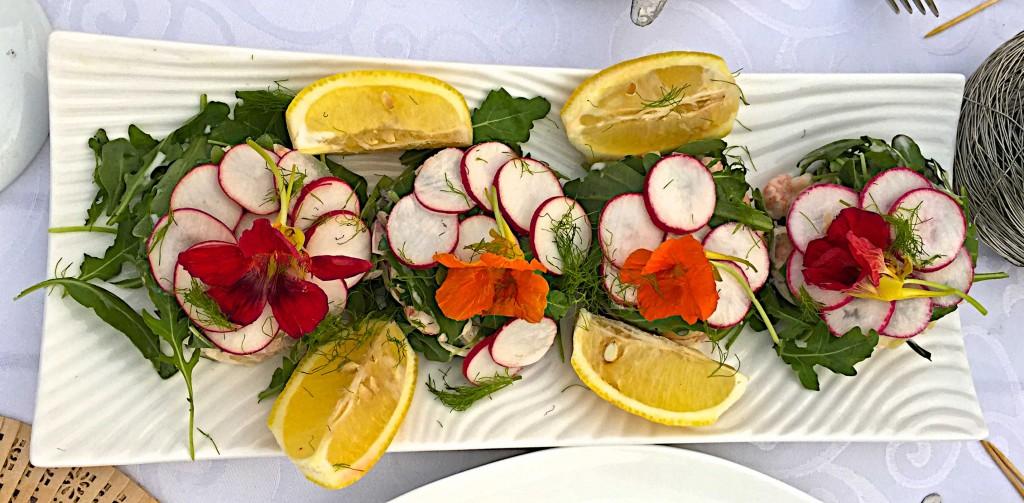 Val's exquisite lobster salad