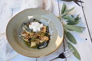 Ricotta Gnocchi with sage leaf brown butter