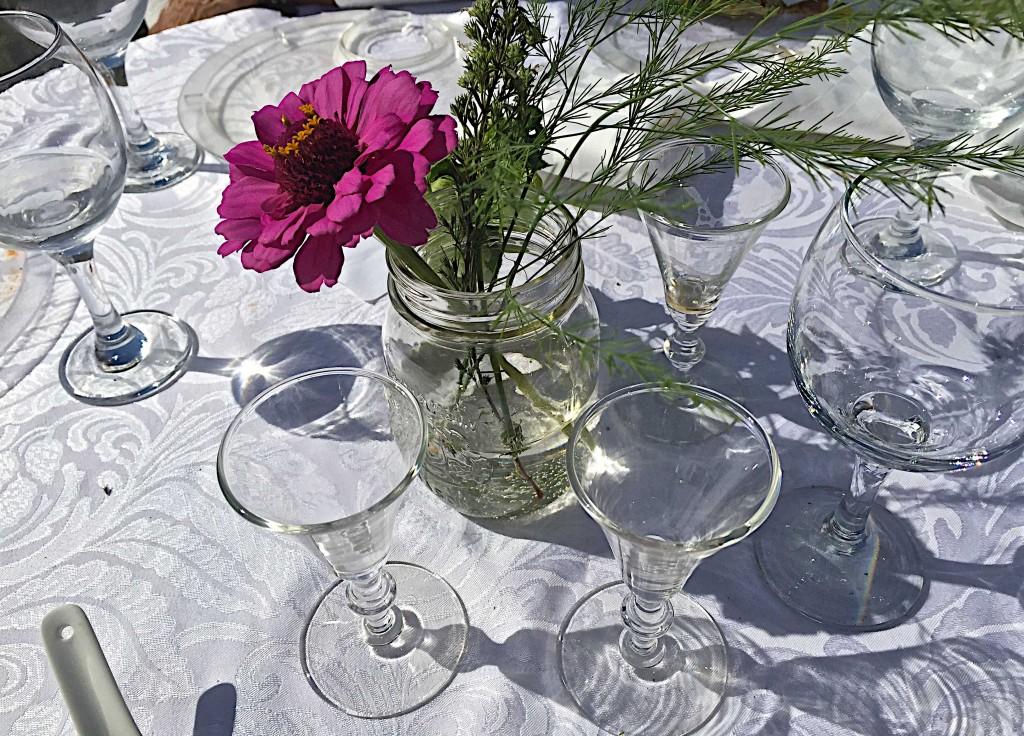 Tables on the farm