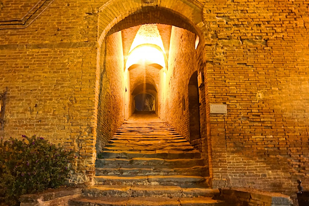 Ancient stairs leading to the piazza