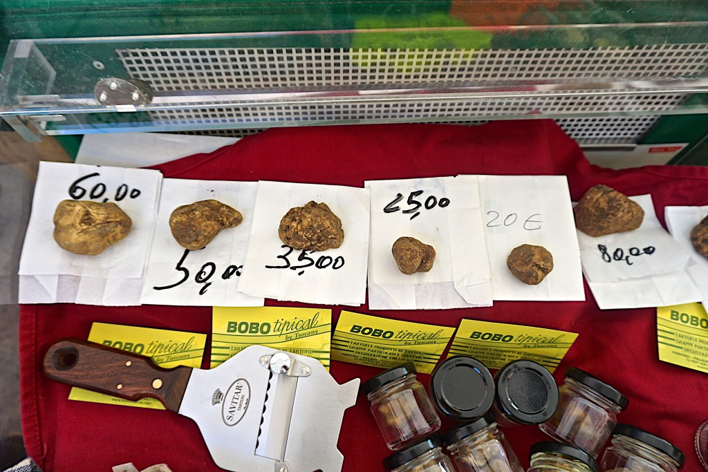 White Truffles for sale at San Miniato Truffle Festival
