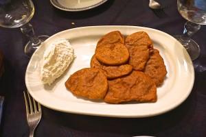 Chestnut flour pancakes with fresh ricotta