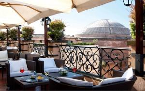 Rooftop of Hotel Minerva, Rome