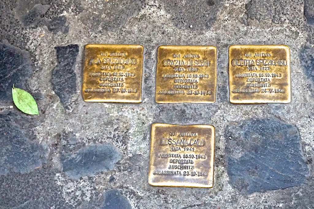 Memorial plaques in the Jewish Ghetto