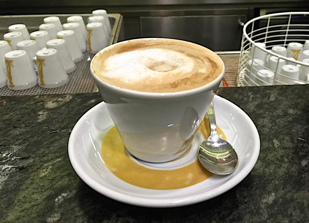 Cappuccino at La Tazza d'Oro