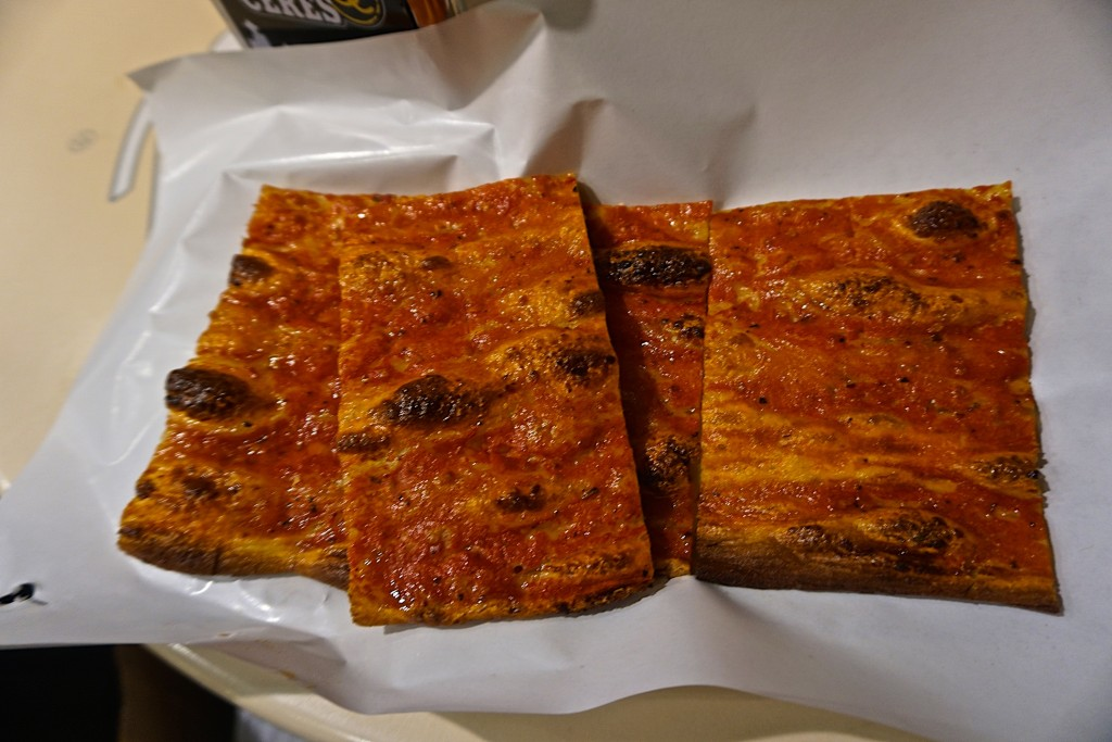 Pizza rossa at Roscioli Forno