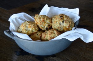 Cheese and cranberry scones