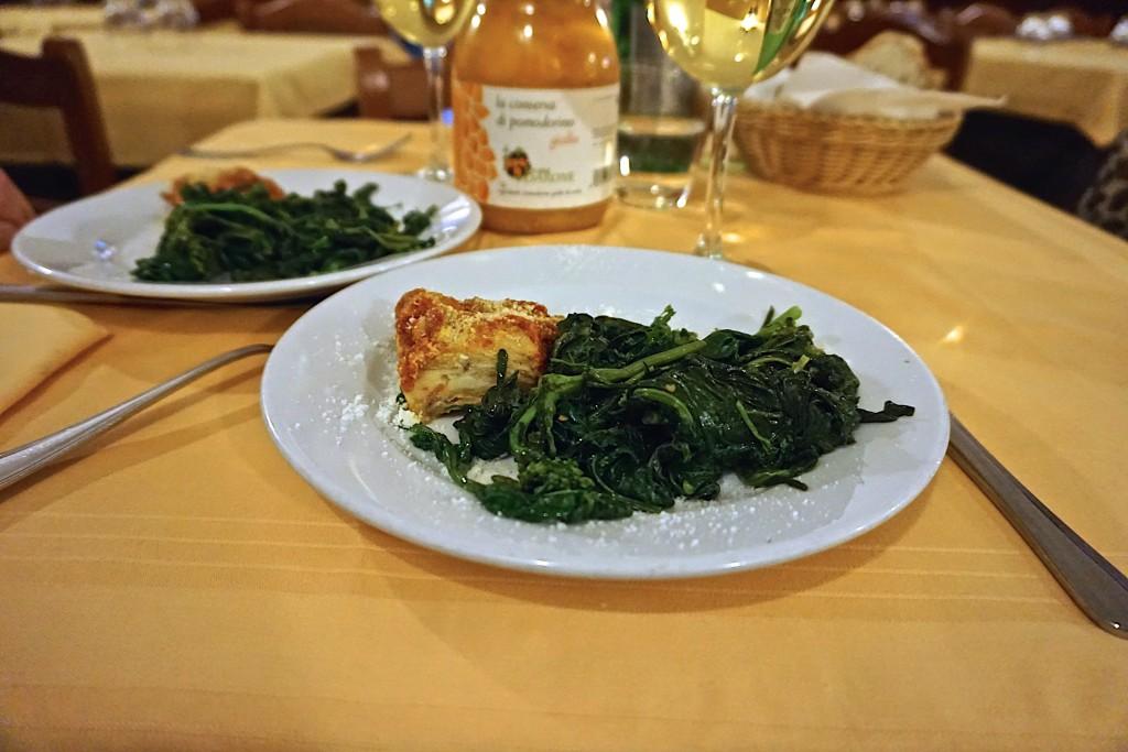 Fiarieli and eggplant parmesan