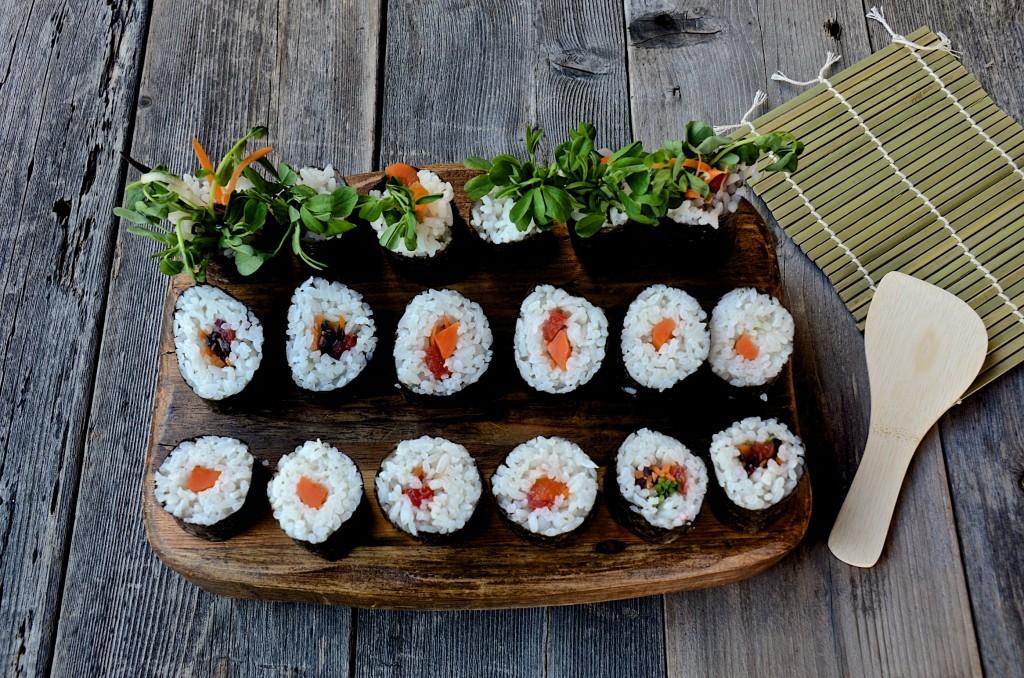 Sushi rolls bouquets