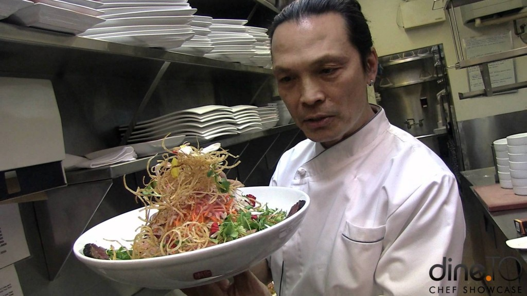 Chef Susur Lee and his signature dish