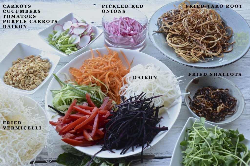 Mis en place for Singapore Slaw