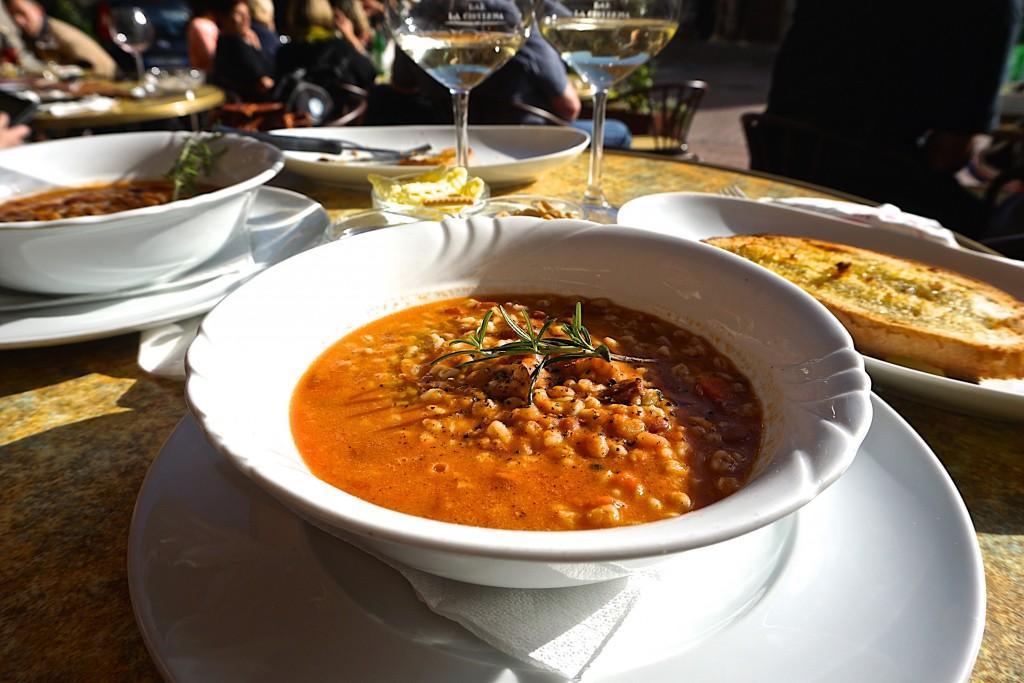 Pasta e fagioli in San Gimignano