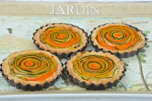 Sumer vegetable spiral tarts