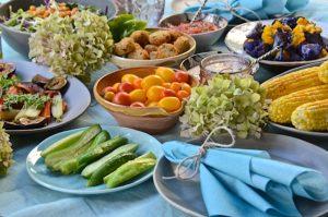 Summer vegetables dinner