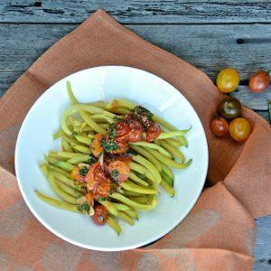 Yellow beans with tomato vinaigrette