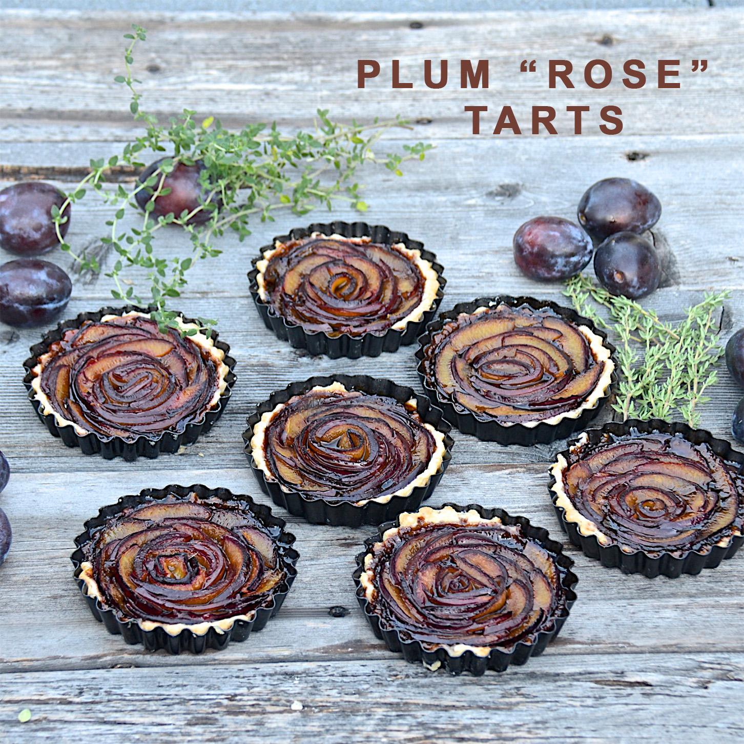 """Plum """"Rose"""" Tarts"""