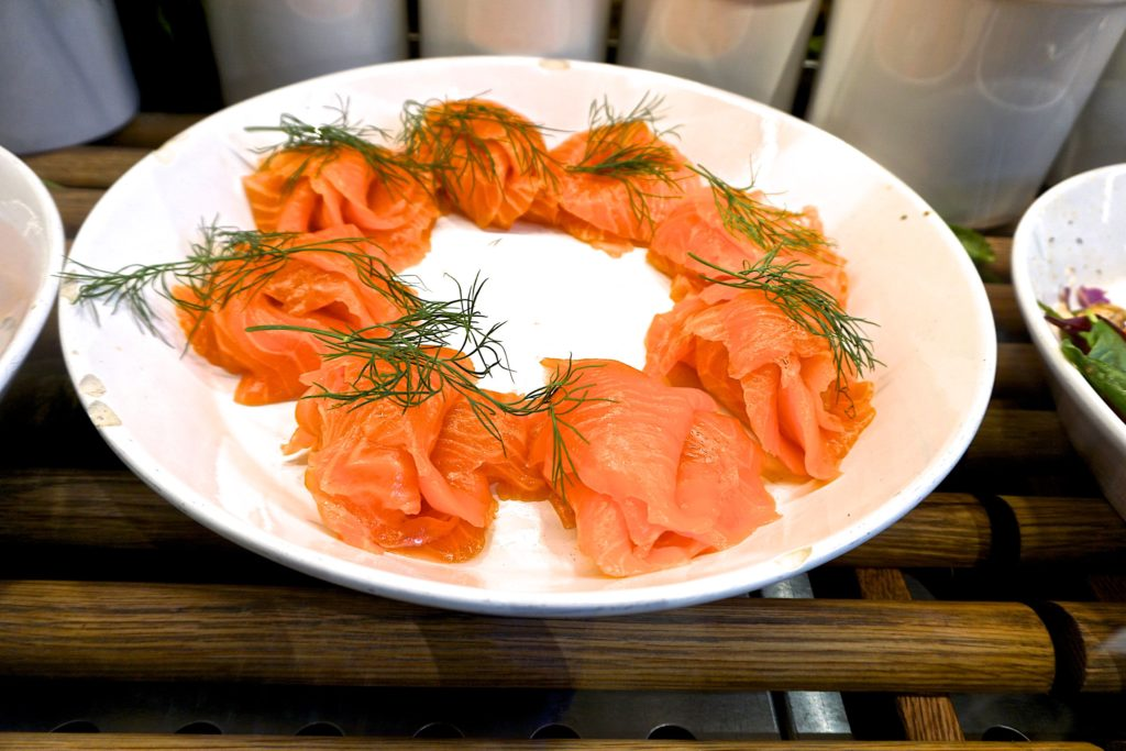 Gravlax at the market