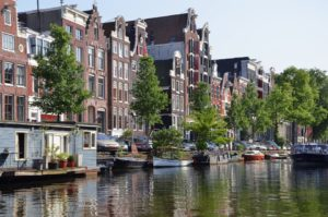 Amsterdam house boats and canals