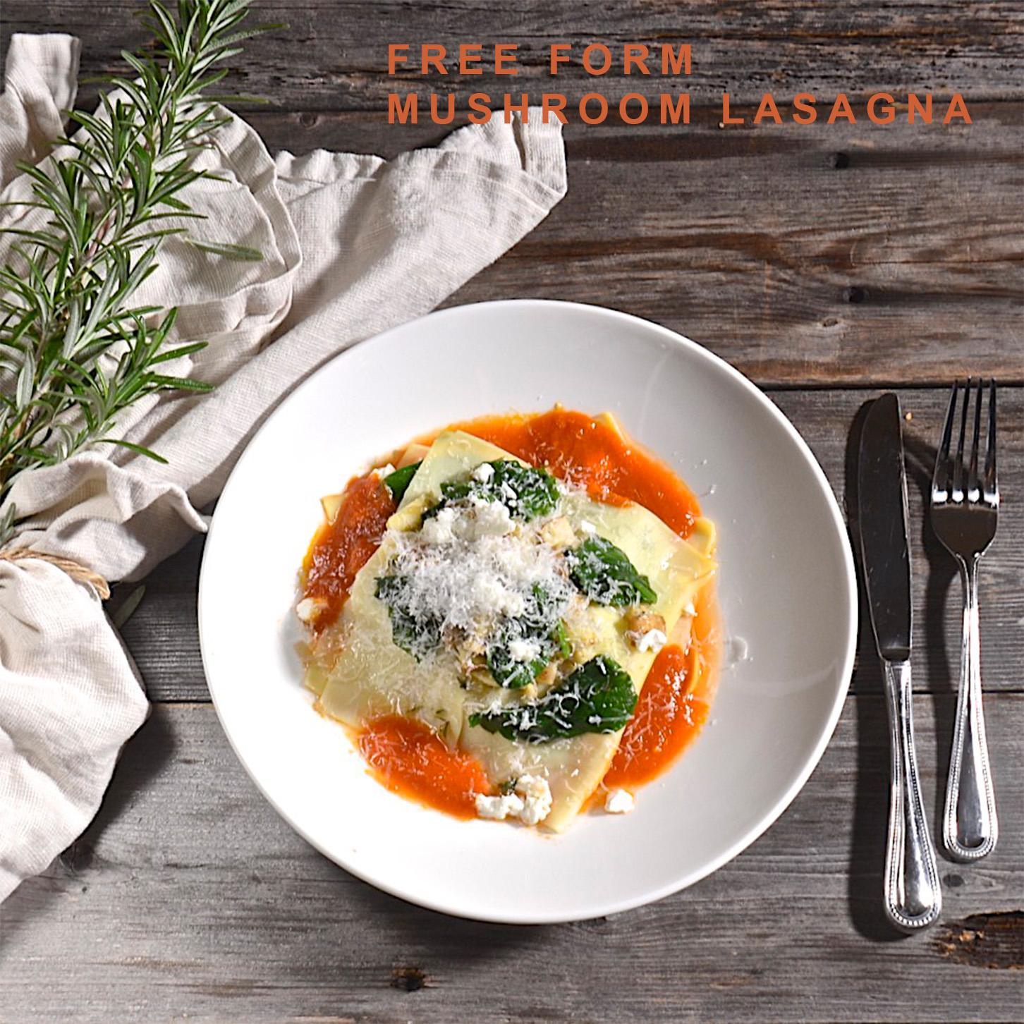 Free form lasagna