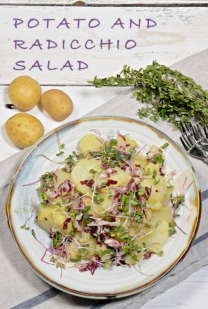 Potato and radicchio salad