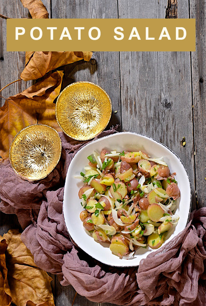 Potato salad with olive oil and vinegar