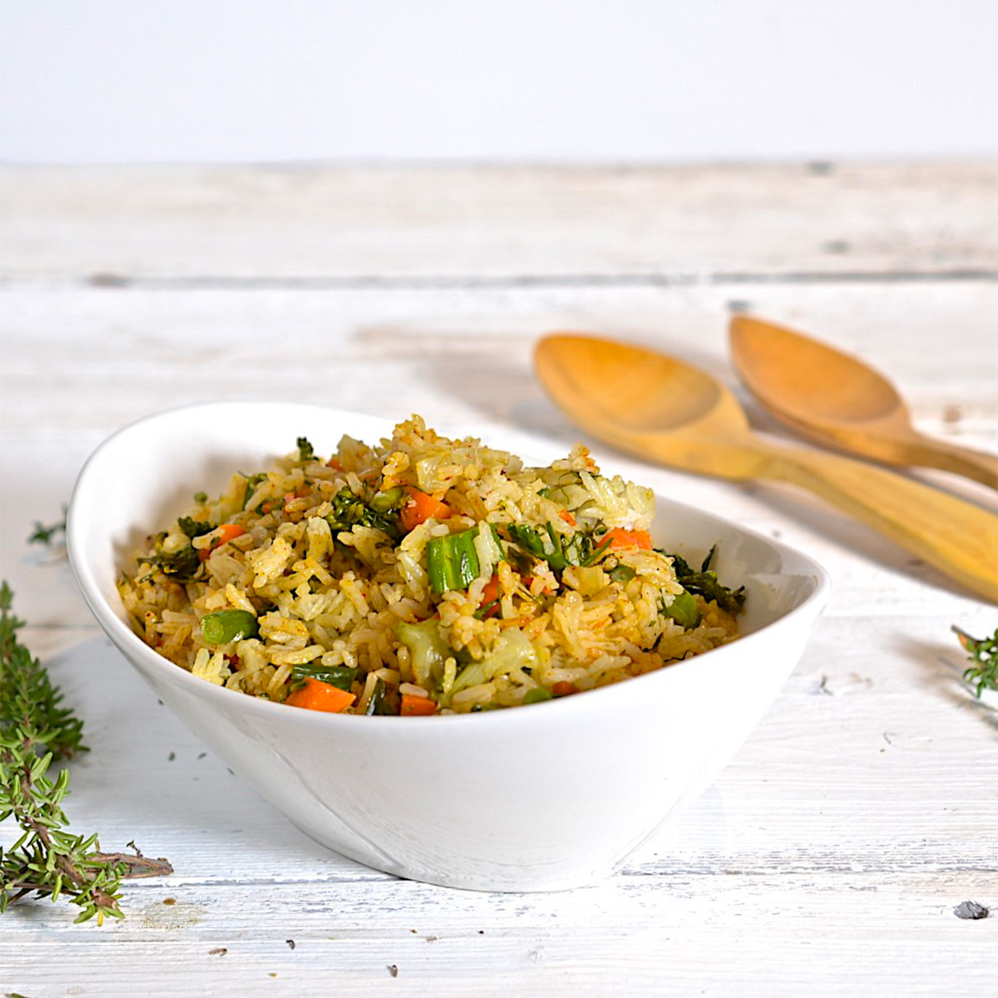 Easy rice pilaf with broccolini olive oil and lemons dina honke - Pizzeria venecia marbella ...