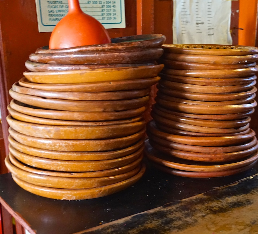 Mexican red clay plates