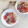 Shredded salad with grapefruit and citrus vinaigrette