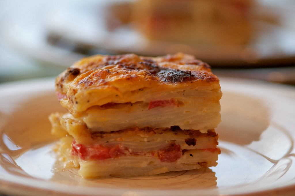 Potato and tomato gratin